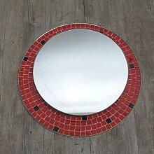 Deutscher Beleuchteter Mosaik Spiegel, 1950er