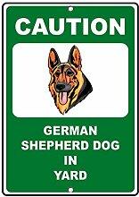 Deutscher Schäferhund Hund Vorsicht Fun Home