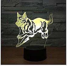 Deutscher Schäferhund Laufhund 3D Nachtlampe