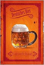 Deutsches bier, tradionelle Brauart, oktoberfest, biergarten, schild aus blech, tin sign,