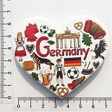 Deutschland 3D Kühlschrankmagnet Harz