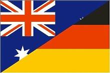 Deutschland / Australien Freundschaftsfahne Fahne