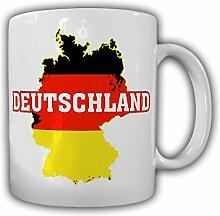Deutschland BRD Bundesrepublik Fahne Landkarte Alfashirt Germany Tasse Becher #19847