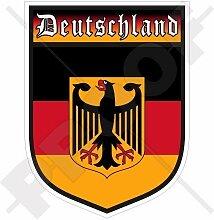 DEUTSCHLAND Deutschland Deutscher Schild 100mm