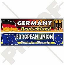 DEUTSCHLAND-EUROPÄISCHE UNION Flagge-Wappen,