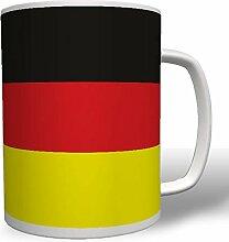Deutschland Fahne Flagge Landesflagge - Tasse Kaffee Becher #12740