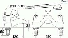 Deva DLT TSM 106Hebel Thermostatischer Bad Dusche Mischbatterie mit Chromfinish