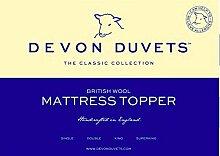 Devon Bettdecken UK–British Handarbeit Natur Joppe (Wolle) Matratzenauflage–Double (135x 190cm)