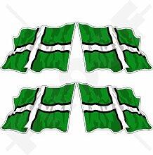 DEVON Grafschaft Wehende Flagge Devonshire England