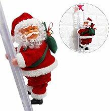 dewdropy Weihnachtsmann Kletternd Leiter,