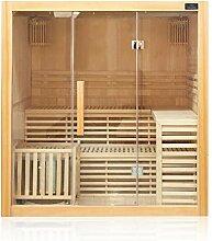 Dewello Finnische Traditionelle Sauna SARNIA 180cm