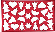 Dexam Ausstecher/Ausstechform, Weihnachtsbaum, mit 25 Formen