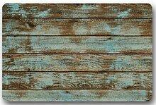 deyhfef Rustikale alte Scheune Holz Fußmatten