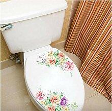 Deyimr Bunte Blume Aufkleber Badezimmer