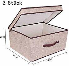 DEYOUNG Faltbox mit Deckel Faltbare