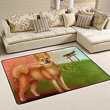 DEYYA Moderne Cool Dog Flokati Teppiche für
