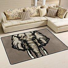 DEYYA Moderne Elefant Flokati Teppiche für