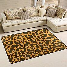 DEYYA Moderne Leopard Flokati Teppiche für