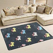 DEYYA Modernes Einhorn Flokati Teppiche für