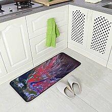DEZIRO Abstrakte Frauen-Print Fußmatte Teppich