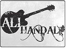 DEZIRO Ali Handal Logo schwarz Fußmatte Outdoor