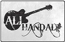 DEZIRO Ali Handal Logo schwarz Fußmatten für