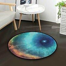 DEZIRO Amazing GalaxyRunde Fußmatte Teppich