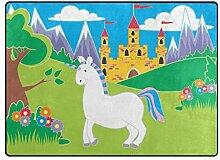 DEZIRO Bunte Einhorn-Fußmatte aus Polyester für