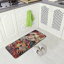 DEZIRO Bunte Kunst Fußmatte Teppich
