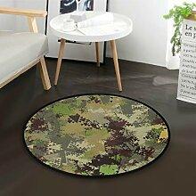 DEZIRO Camo Texturrunder Fußmatte Teppich