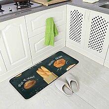 DEZIRO Cartoon Brot Bodenmatte Teppich