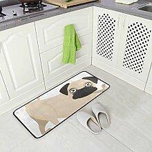 DEZIRO Cartoon Bulldog Bodenmatte Teppich