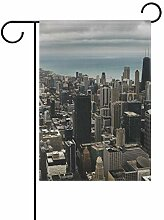 DEZIRO Chicago City Hofflagge Garten Flagge