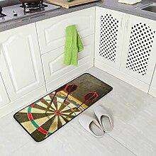 DEZIRO Dart-Bodenmatte, Teppich, rutschfest,
