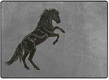 DEZIRO Einhorn-Fußmatte, leicht, Polyester,