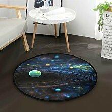 DEZIRO Fantasy GalaxyRunde Fußmatte Teppich