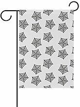 DEZIRO Flagge Spinne, weißer Hintergrund,