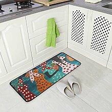DEZIRO Frauen-Ölgemälde Fußmatte Teppich