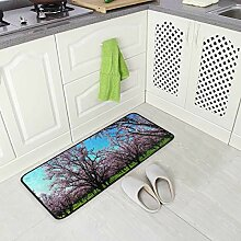 DEZIRO Frühlings-Fußmatte Mohnblumen-Teppich