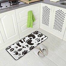 DEZIRO Fußabdruck-Bodenmatte Teppich