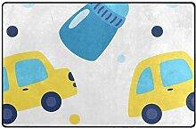 DEZIRO Fußmatte für Flasche und Auto, Polyester,