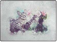 DEZIRO Fußmatte für Katzen und Haustiere, für