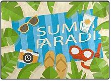 DEZIRO Fußmatte für Sommer, Strand, Outdoor,