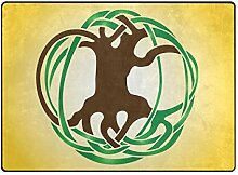 DEZIRO Fußmatte mit abstraktem Baum Logo für den
