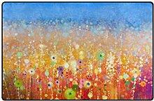 DEZIRO Fußmatte mit abstraktem Blumenfeld,