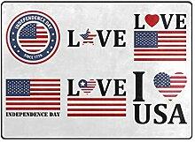 DEZIRO Fußmatte mit amerikanischer Flagge, für