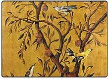 DEZIRO Fußmatte mit Baum und Vogel, für den
