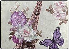 DEZIRO Fußmatte mit Blumen und Turm für den