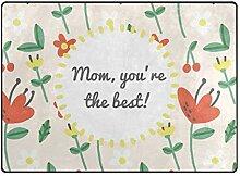 DEZIRO Fußmatte mit Blumenmuster, für den