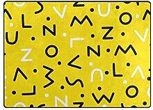 DEZIRO Fußmatte mit Buchstaben-Memphis-Muster,